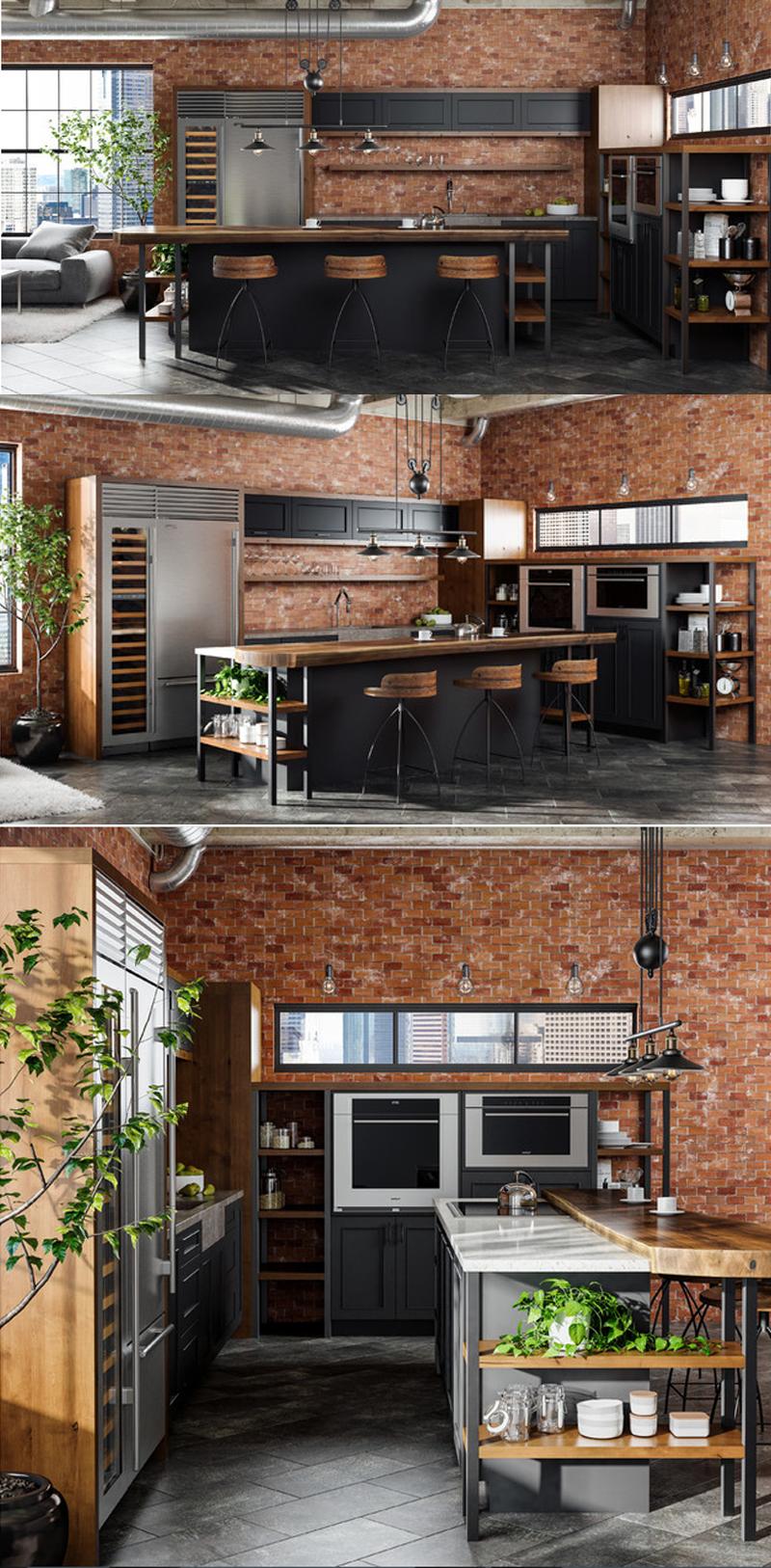 kitchen industrial islands