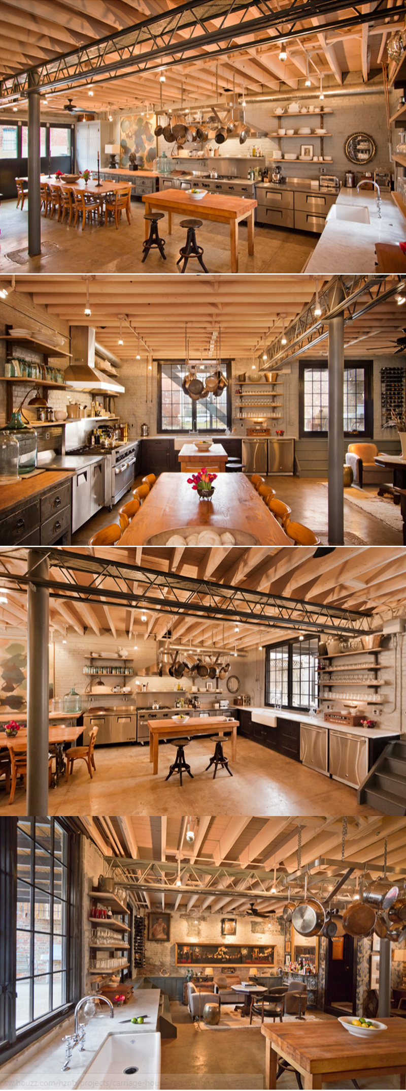 industrial style kitchen carts