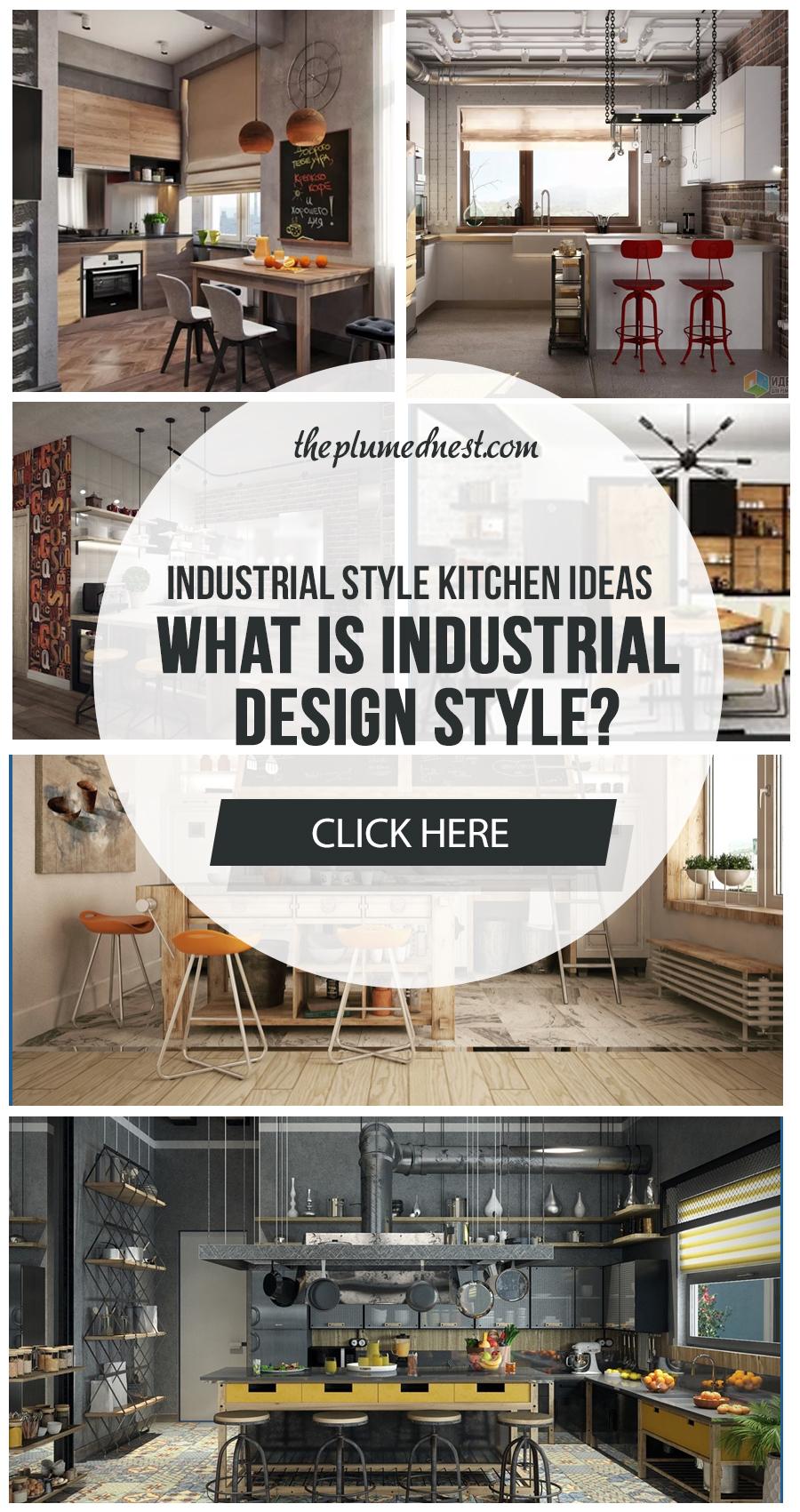 industrial style kitchen island