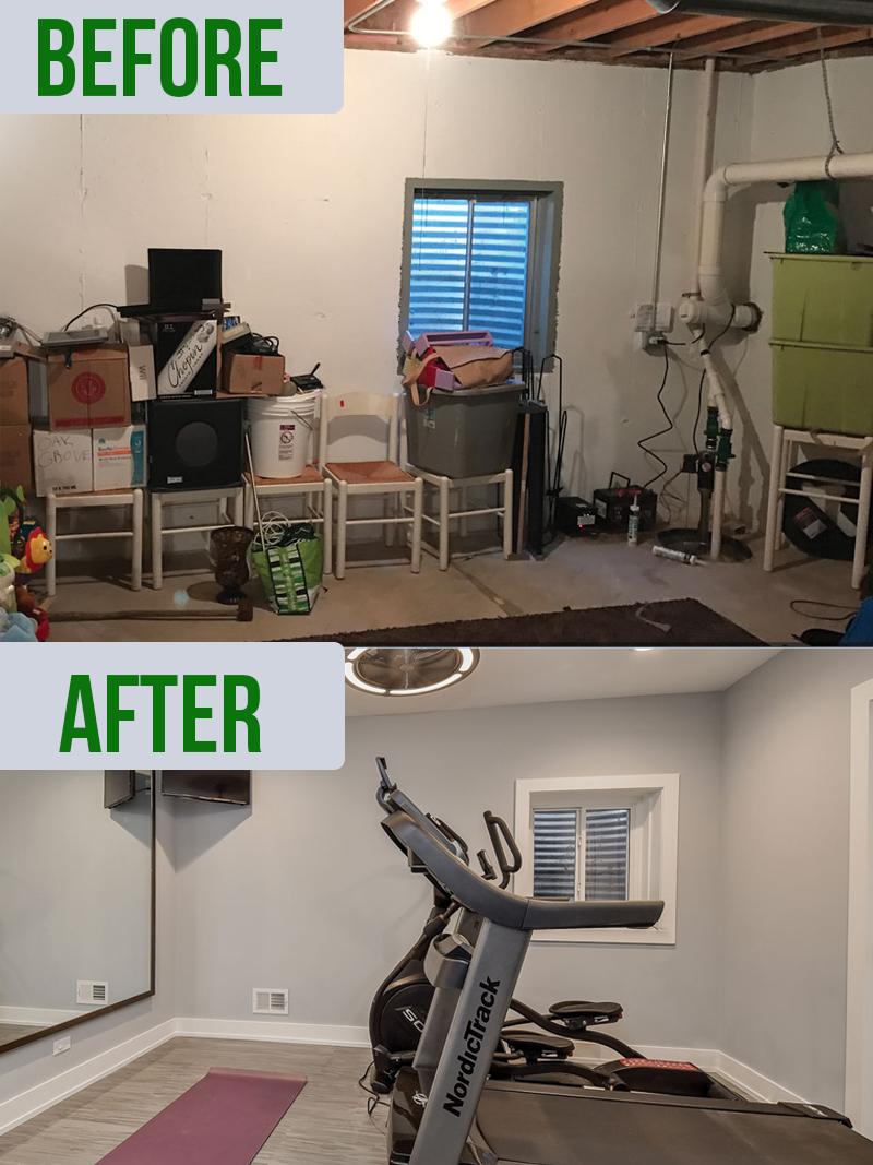 cheap basement makeovers