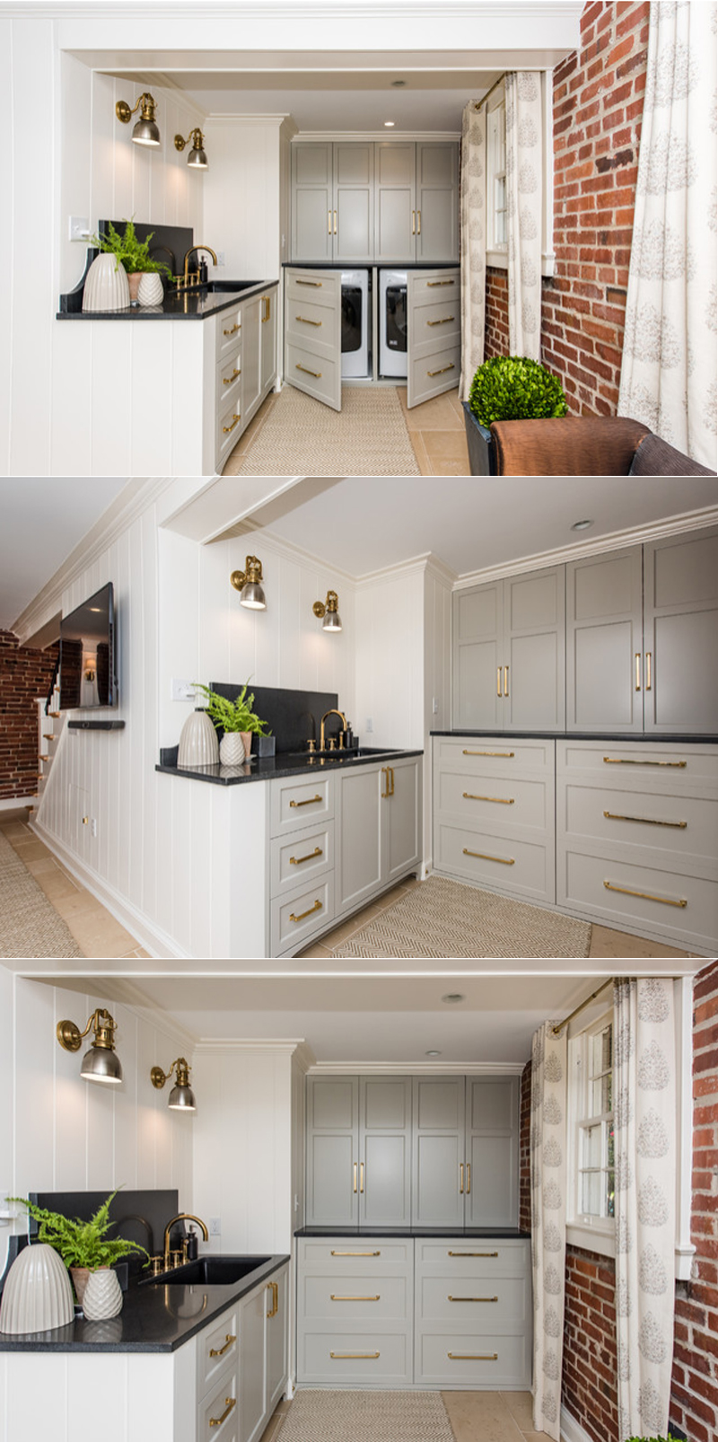 laundry room makeover before and after