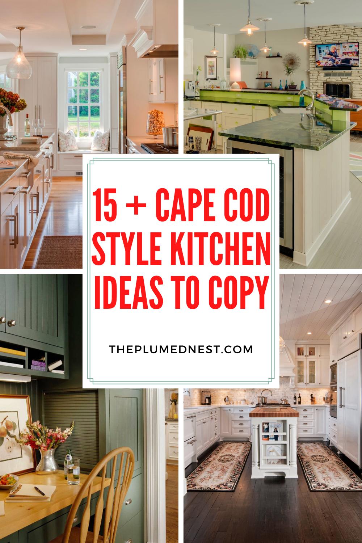 Cape Cod Open Concept Kitchen